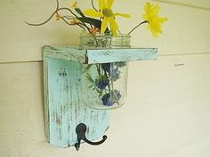 I Luv this!   Rustic wood shelf / sconce keyholder Home decor  by SouthernWood…