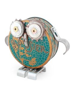 "Gorgeous little ""alfabot' owl by Dutch artist Jurriën van Berkum"