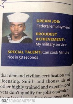 I wish I could cook minute rice in 58 seconds as well.  Haha.  Awesome talent.
