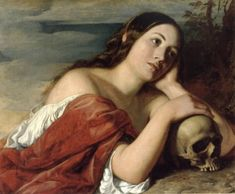 "William Dyce  ""OMNIA VANITAS"" -  #skull, #painting, #dyce, #ominiavanitas"