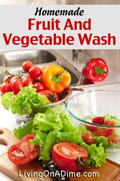 Homemade Fruit And Vegetable Wash Recipe - 5 Homemade Cleaners You Didn't Know You Could Make at Home
