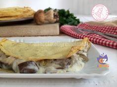 le crepes con funghi e besciamella ottime come primo, secondo ma anche piatto unico e gustosissimo e favolose anche nella versione light e dukan