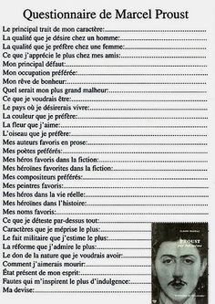 Pin by Isabelle Raviat on pédagogie Marcel Proust, Proust Questionnaire, Einstein, French Classroom, Teaching French, Learn French, French Language, Some Words, Positive Attitude
