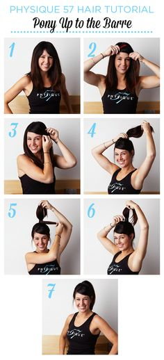 Hair Tutorial (Part 2 of 3): Pony up to the #Barre with Physique 57. Click image for step by step instructions to do a wrap around ponytail. #beauty