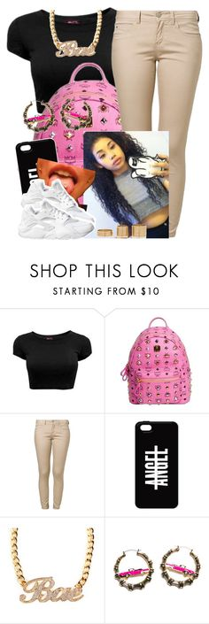 """""""✨"""" by trillest-queen ❤ liked on Polyvore featuring MCM, ONLY, NIKE, Joyrich and River Island"""