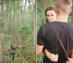 Fab You Bliss, Elle Golden Photography, The Hunger Games styled engagement shoot 009