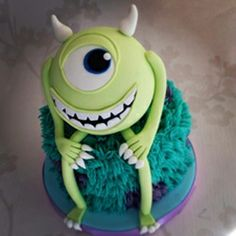 Monster Inc themed birthday cake by www.victorias-cakes.co.uk