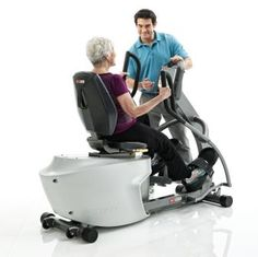 SciFit REX7001 Recumbent Elliptical Foot Straps & AC Adapter - The SCIFIT REX7001 is a commercial recumbent elliptical with a smooth, natural knee movement that replicates climbing stairs to improve the users' functional gait. The easy, step-thru design and swivel seat allows users to gain entry and exit easily. Exercise in forward or reverse for a true, total body workout.  Plus, this recumbent elliptical has a low-profile seat back. www.FitnessExchange.com