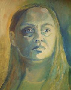 AUTOPORTRET NIEBIESKI II (Painting) przez ANNA  BARDZKA
