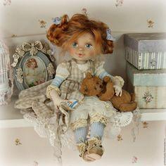 Купить Рыжая Соня .  Кукла авторская - куклы, коллекционная кукла, розовый, кукла, шебби-шик