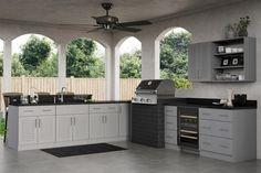 Ideal Cabinetry Adds Rustic Gray To Its Outdoor Polymer Cabinets