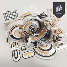 July. by Peter Tarka, via Behance - 3D Typography Design Modelling