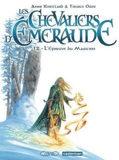 Couverture Les Chevaliers d'Émeraude (BD), tome 2 : L'épreuve du magicien