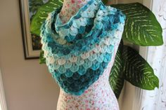 SALE/Ready to ship /GORGEOUS Shades of Handmade Crochet by ufer, $35.00