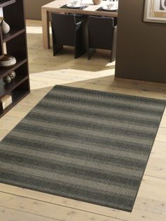 Contemporary carpet woven anthracite 4 sizes availlable 5ft2x7ft5 Technique: Woven. Material: 100% Polypropylene. Total weight: ca. 1.400 g/m². suitable for outdoor use. Quality is very good, very durable.  #Sona-luxNewFashionRugs #Home