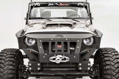 Fab Fours Front Grumper for Jeep® Wrangler & Wrangler Unlimited JK Jeep Wrangler Front Bumper, Jeep Wrangler Tj, Jeep Jk, Wrangler Unlimited, Jeep Garage, Jeep Truck, Custom Jeep, Custom Cars, Winch Bumpers