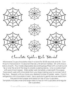 # free #printable #spider #halloween #diy #chocolate #web #tutorial #recipe #cupcake #topper anna and blue paperie