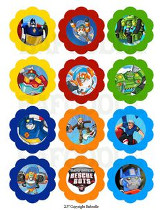 Transformers Rescue Bots 1.5 and 2.5   INSTANT by bafoodle on Etsy, $2.95