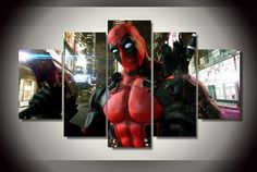 Own this amazing Deadpool Marvel Comics superhero wall canvas today we will ship the canvas for free. This is the perfect centerpiece for your home. It is easy to assemble and hang the panels together which makes this a great gift for your loved ones. This painting is printed not handpainted and is ready to hang! We have 1 options for this canvas -- Size 1: (20x35cmx2pcs, 20x45cmx2pcs, 20x55cmx1pc) Limited quantities left. www.octotreasures.com