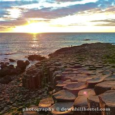 Sunset at the Giant's Causeway County Antrim Northern Ireland by downhillhostel.com http://www.downhillhostel.com/wp-content/uploads/2012/07/giants_causeway_hostel_sunset_photography_11-copy.jpg