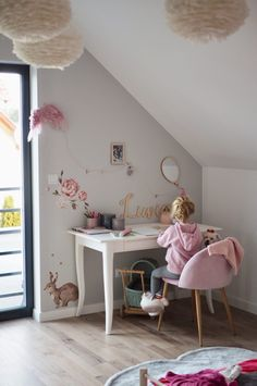 Small Girls Bedrooms, Big Girl Rooms, Kids Bedroom, Kidsroom, House Rooms, Baby Room, Home Office, New Baby Products, Sweet Home