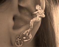 mermaid ear cuff <3