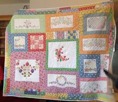 Quilt made for Sarah for Christmas 2014 from Mimi's vintage linens