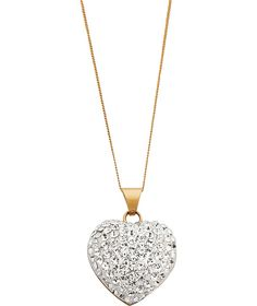 Buy 9ct Gold Crystal Dome Heart Pendant at Argos.co.uk - Your Online Shop for Ladies' necklaces.
