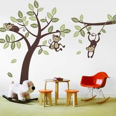 Monkey/jungle wall decal for nursery