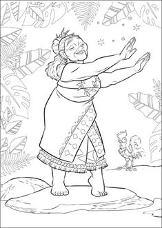 Top 10 Moana Coloring Pages Free Printables Places to