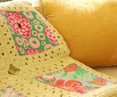 Kaffe Fusion Blanket - by Sewing Daisies  The 'make it up as you go along' blanket.  Materials:   * 48x Charm Squares (5x5 cotton fabric)  * S...