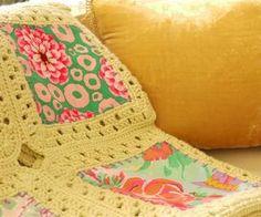 Costura Margaridas Kaffe Fusão Blanket