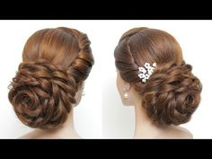 Simple Braided Hairstyle. Easy Updo For Party. Hair Tutorial ...