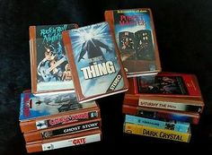 10x Vtg Beta Tapes Horror Slasher Gore Sleaze Cult Creature Collectible Betamax