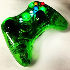 A custom modded Illuminated Halo Green Xbox 360 rapid fire controller from www.intensafirestore.com. Just $99.95. #xbox #xbox360 #xboxcontroller #modded #moddedcontroller #mw3 #black #blackops #blackops2 #game #gamer #games #gaming #gamerchick #girlgamers #controllers #customcontroller #custom #pictureoftheday #green #greencontroller