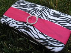 Pink Zebra Baby Wipes Clutch by thepinkcamellia on Etsy