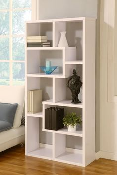 Amazon.com: Enitial Lab Modern Backless Display Stand/Bookcase, White: Home Kitchen