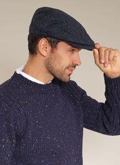 4ed4642c Blarney Kerry Cap in Navy Wool #flatcap #traditional #irish #wool #cap