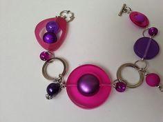 Jewerly modern fashion bijoux Ideas for 2019 Purple Necklace, Purple Jewelry, Funky Jewelry, Wire Jewelry, Diy Earrings, Diy Necklace, Fashion Mode, Modern Fashion, Bijoux Design