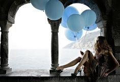 Blue Balloons #ocean #camillestyles