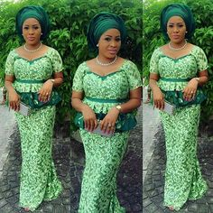 Trendy Latest Aso Ebi Lace Designs For Beautiful Ladies