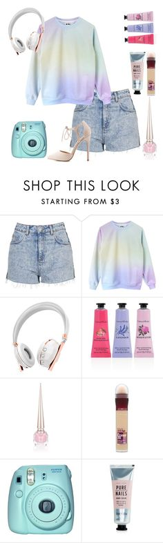 """""""Rainbow chic"""" by tomboyllama995 on Polyvore featuring Topshop, Caeden, Crabtree & Evelyn, Christian Louboutin, Maybelline, Fuji, New Look and Charlotte Russe"""