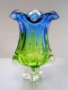 Murano sommerso glass vase.