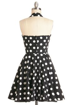 Traveling Cupcake Truck Dress in Black. Your style is as sweet as your bakery confections when youre manning your food truck in this darling dress!  #modcloth