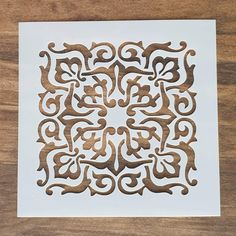 Canvas Walls, Wood Canvas, Arabesque Tile, Stenciled Floor, Used Vinyl, Stencil Designs, Project Yourself, Tile Patterns, Different Colors