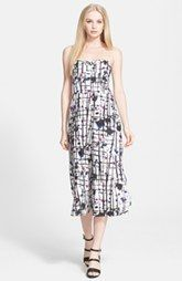 Milly Print Strapless Culotte Jumpsuit, $595
