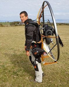 A solution to the stress of commuting! It features a propeller, a small engine and a reinforced polyester wing and is the brainchild of TV adventurer Bear Grylls. This motorized paraglider comes in a suitcase and can be put together in ten to 15 minutes.