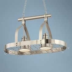 Pot rack light over island