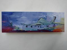 "This is ""Jet Taking Off"" an original acrylic painting on canvas by JLF. Canvas Letters, Painted Letters, Creative Artwork, Acrylic Painting Canvas, Jet, Original Paintings, Tape Measure, The Originals, Abstract"