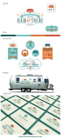 Create a logo for an exciting new metropolitan mobile hair salon business housed in a vintage Airstream! Logo & business card design #114 by...